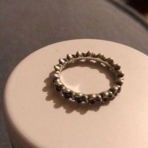 "Authentic Pandora Ring ""Floral Elegance"" Sz 8.5"